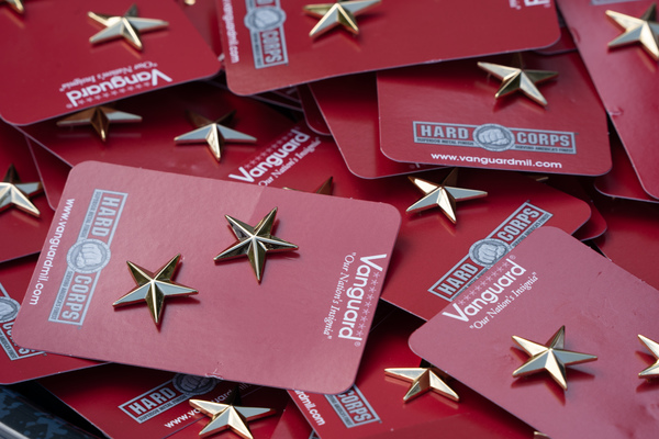 Gold stars given to cadets during the fall 2019 awards parade