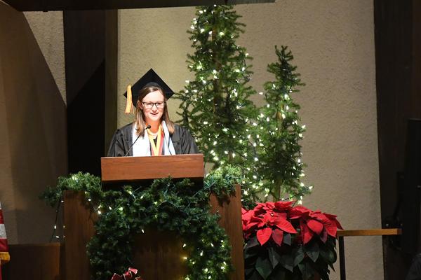 Mackenzie clayton commencement speech dec 19