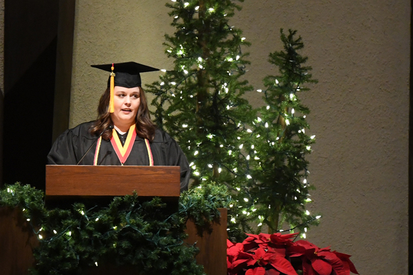 Liz hollinger commencement speech dec 19
