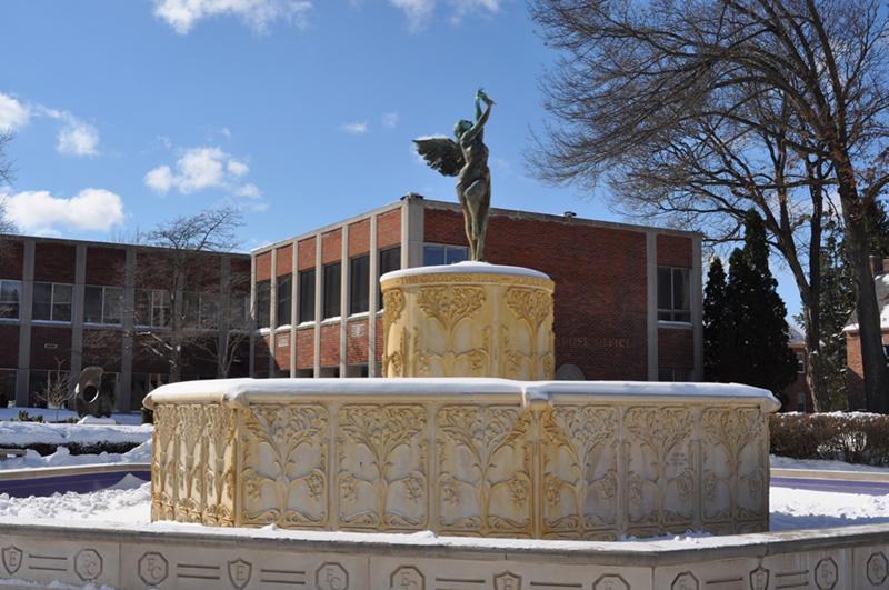 Fountain winter