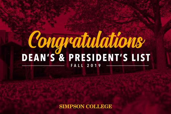 Deans presidents list fall19