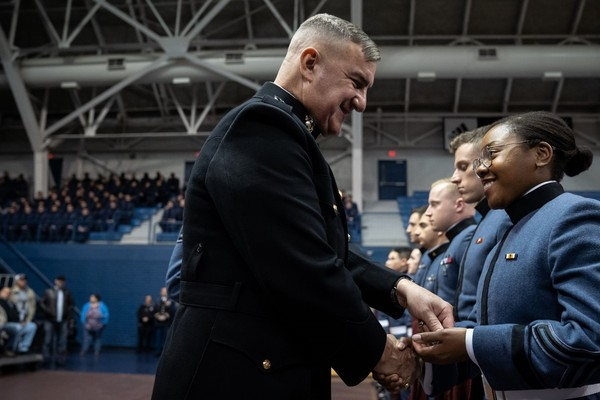 General walters at fall 2019 awards ceremony