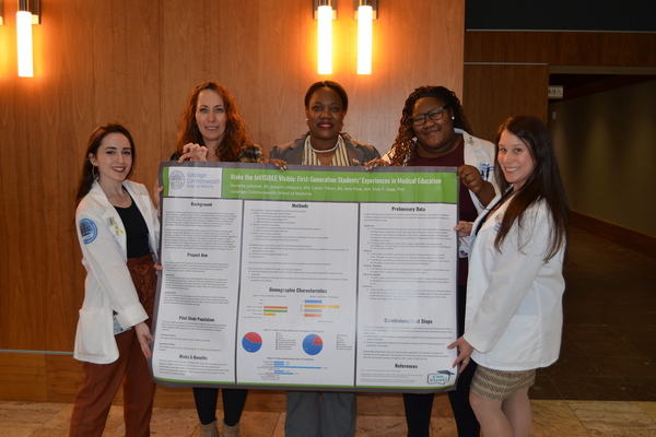 Srip firstgen research team pix w poster