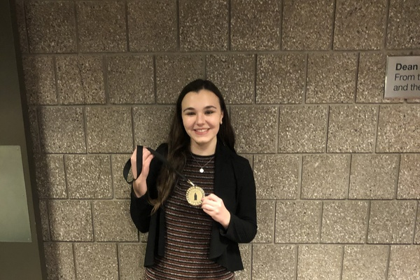 Kyra 5th place at snafu in cornell spring 2020