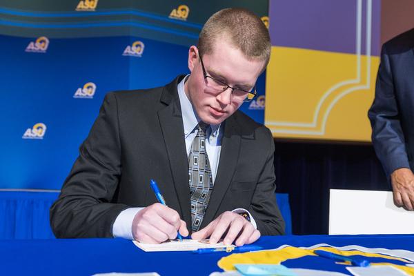 Logan drake   carr signing cropped