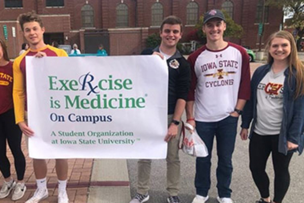 Exercise on campus