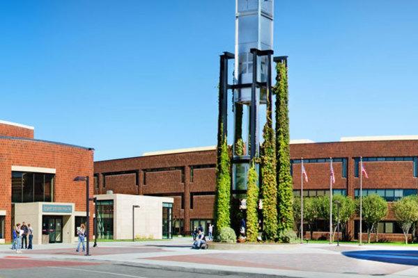 Geneseecc campus outdoor commonarea
