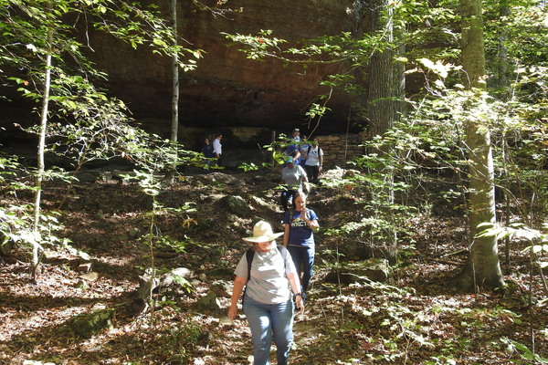 2019 sustainabililty nature hike in shawnee natinonal forest