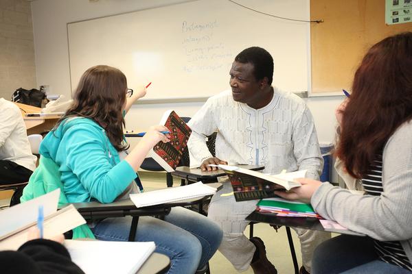 Professor mama talks about storytelling to student merit
