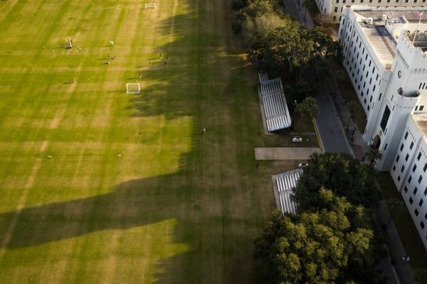 Pt barracks and shadow on summerall field the citadel