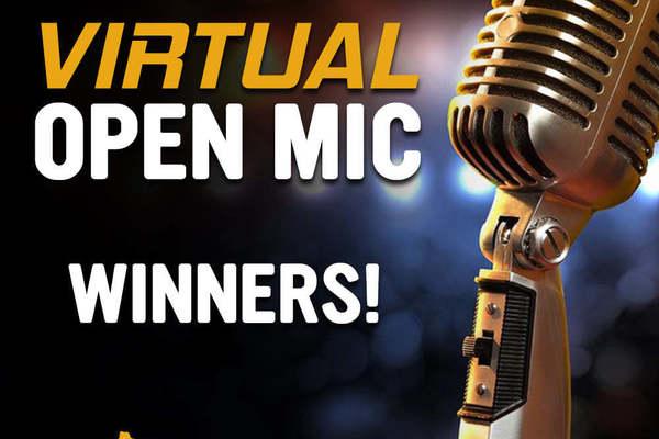 Open mic winners