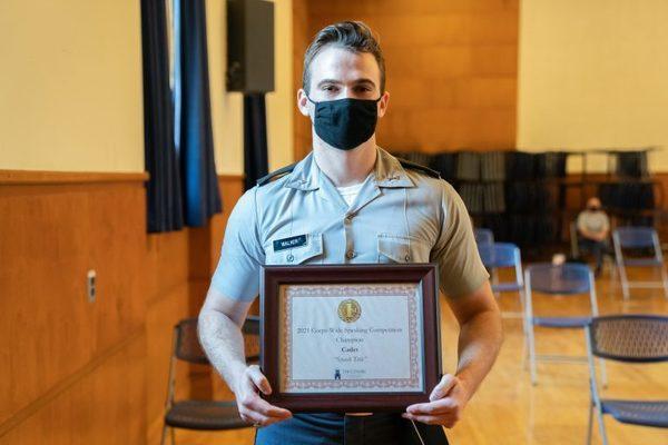 Adam walker with award