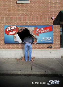 Battaglini stride scratch n sniff   wall ad