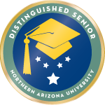 Nau badge distinguished senior