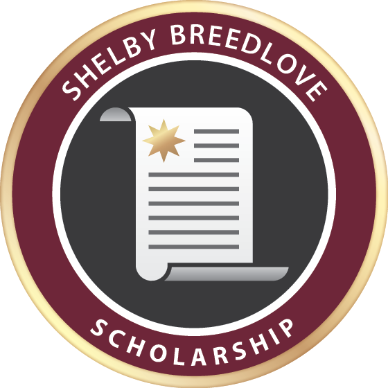 Shelbybreedlovescholarshipbadge