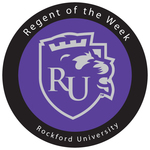 Rockford university regent of the week badge2