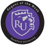 Rockford university regent of the week badge2