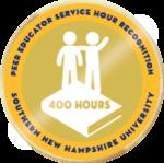 Peer educator service hour 400 badge
