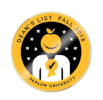 Deans List: Fall 2018 Badge