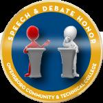 Badge speechanddebate award