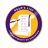 Scranton deans list badge