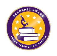 Scranton academic award badge