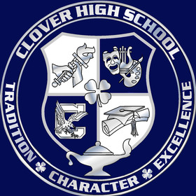 Clover seal all blue background