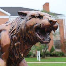 Bearcat statue inset