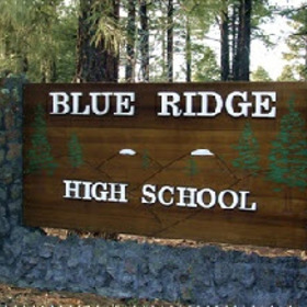 Blue ridge high school front sign