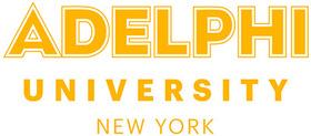 Adelphi ny wordmark gold rgb400p