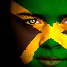 Jamaicanflagairbrushedonface