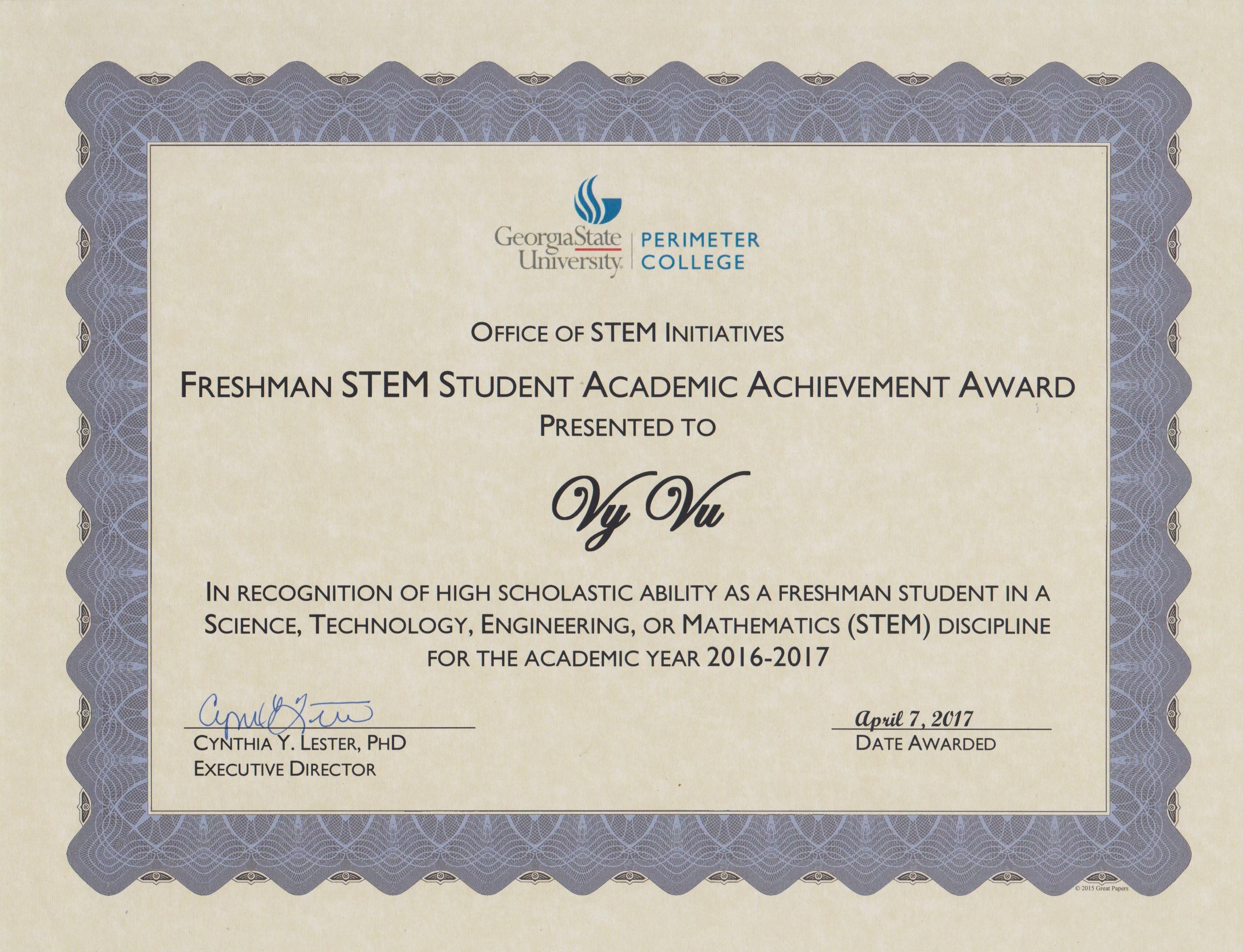 Stem award