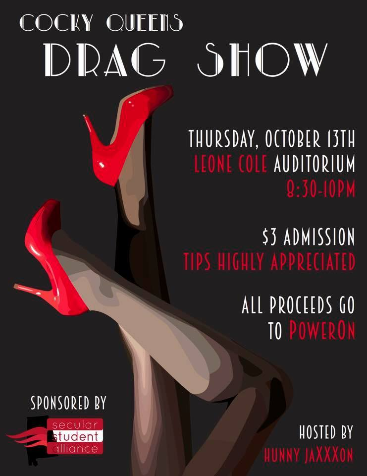 Cockyqueens drag show flyer