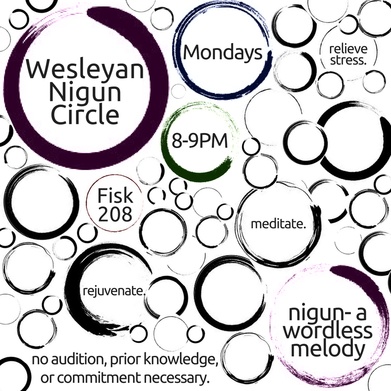 Wesleyan nigun circle social media post