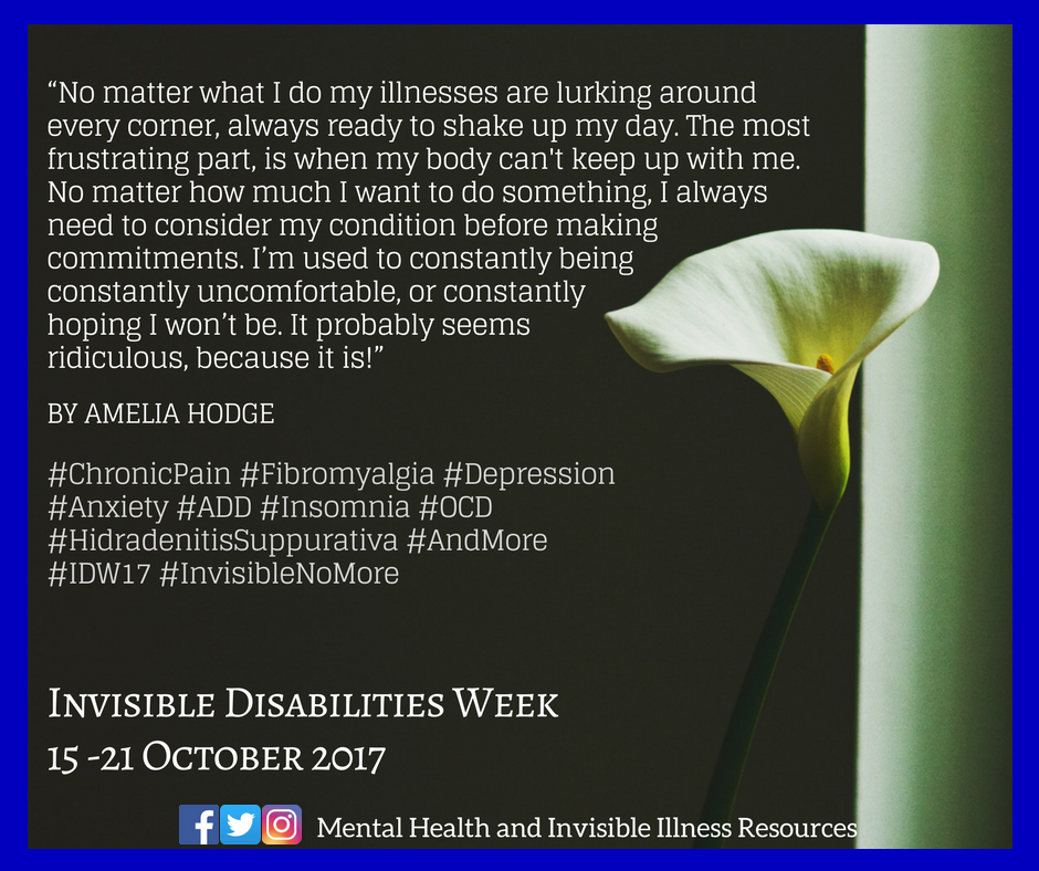 October 2017 idw17 published quote  mental health and invisible illness resources