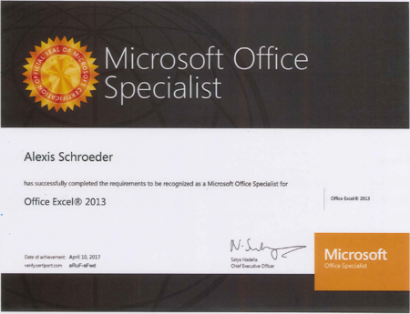 Mosexcelcertificate