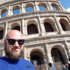 Colosseum selfie straight