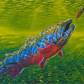 Trout painting