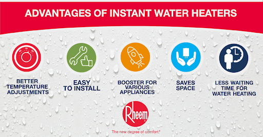 advantages of instant water heater