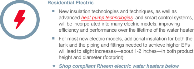 2015 Water Heater Regulation Naeca Rheem Water Heaters