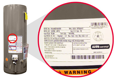 rheem water heater. tank-type systems serial numbers rheem water heater