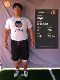 Blayke Taeatafa De La Rosa's Football Recruiting Profile