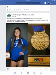 Isabella Espinoza's Women's Volleyball Recruiting Profile