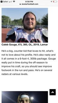 Caleb Gouge's Football Recruiting Profile