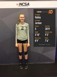 Hailey Jordan's Women's Volleyball Recruiting Profile