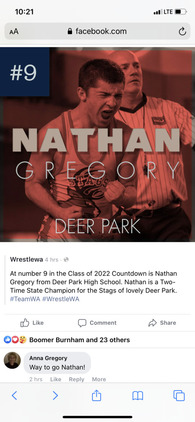 Nathan Gregory's Wrestling Recruiting Profile