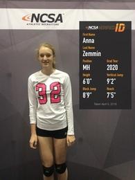 Anna Zemmin's Women's Volleyball Recruiting Profile