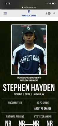 Stephen Hayden's Baseball Recruiting Profile