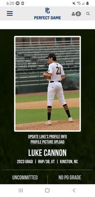 Luke Cannon's Baseball Recruiting Profile
