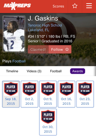 Jedarian Gaskins's Football Recruiting Profile